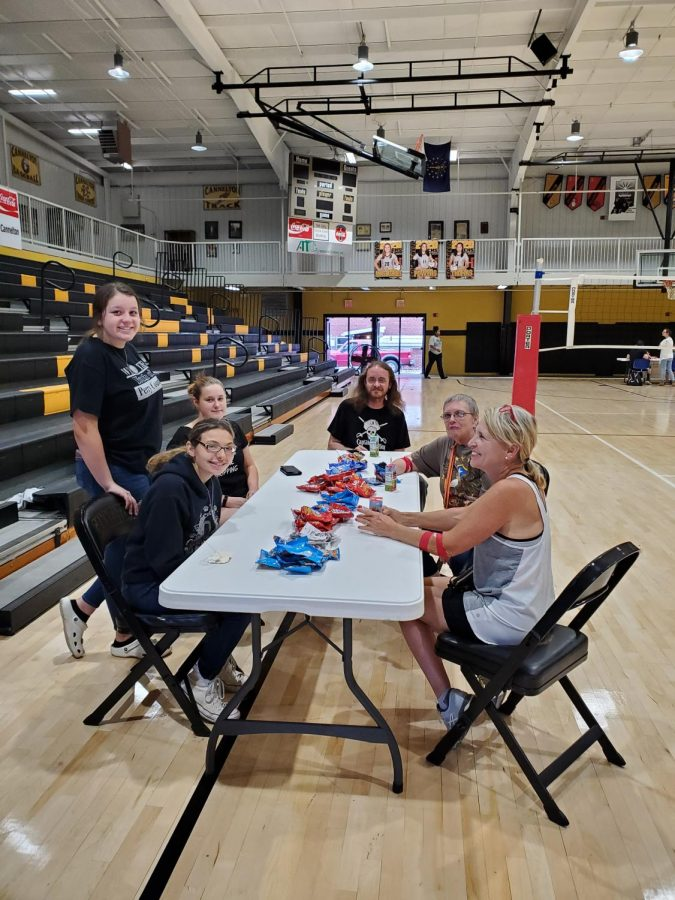 Some of out student volunteers and American Red Cross volunteers at our first blood drive. September 23, 2019.