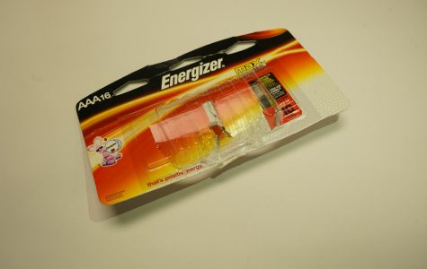 A empty pack of triple-a batteries.