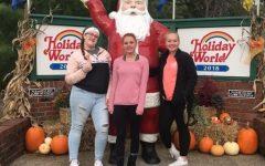 Lori, Jesse, and Mariah at Holiday World in Santa Claus, Indiana. October 14, 2018.