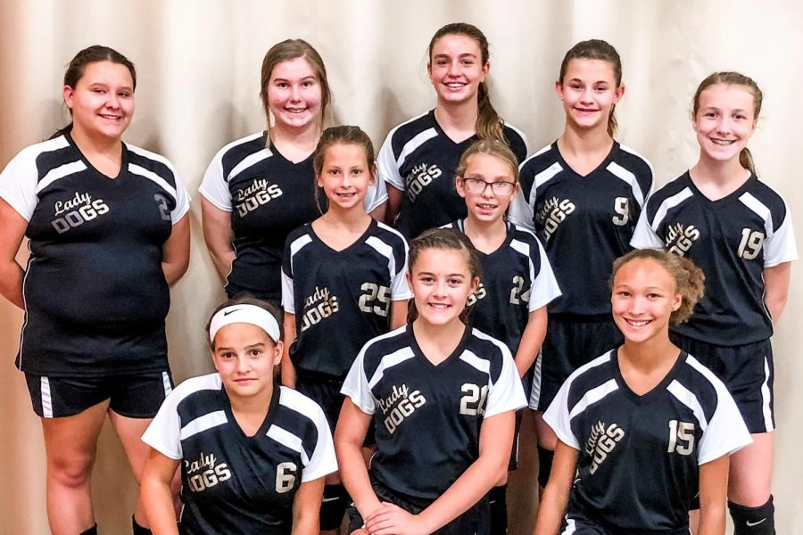 Cannelton Junior High School's 7th and 8th grade volleyball teams for the 2019 season.