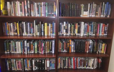 A selection of books in Mrs. Hinton's library