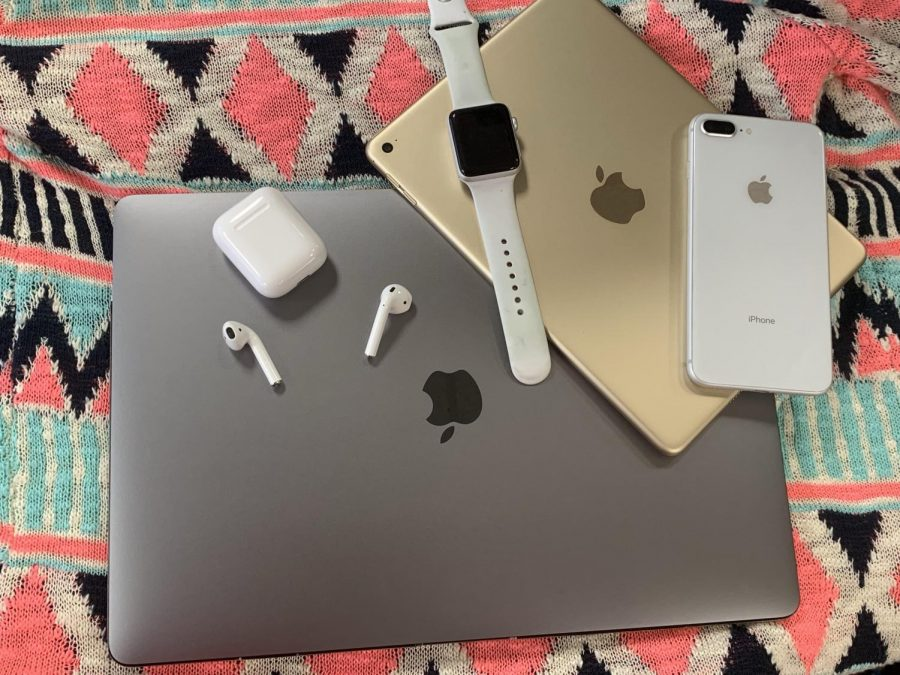 Just a few of Apple's latest technology gadgets.