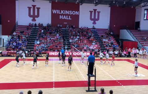 IU Hoosiers take on the Northwestern Wildcats on Dig Pink Night. October 5, 2019.