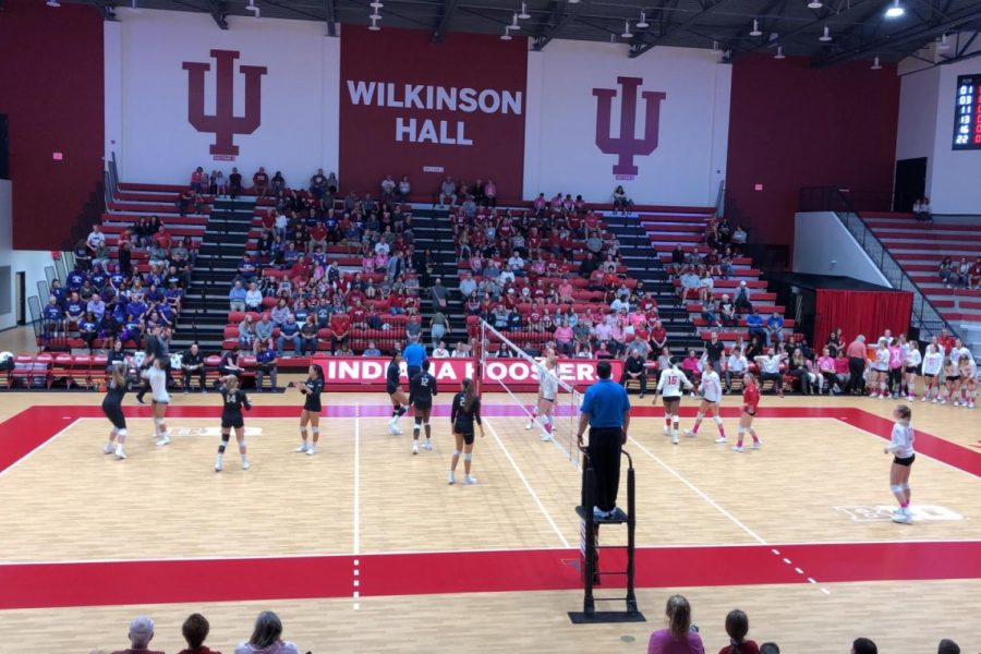 IU+Hoosiers+take+on+the+Northwestern+Wildcats+on+Dig+Pink+Night.+October+5%2C+2019.