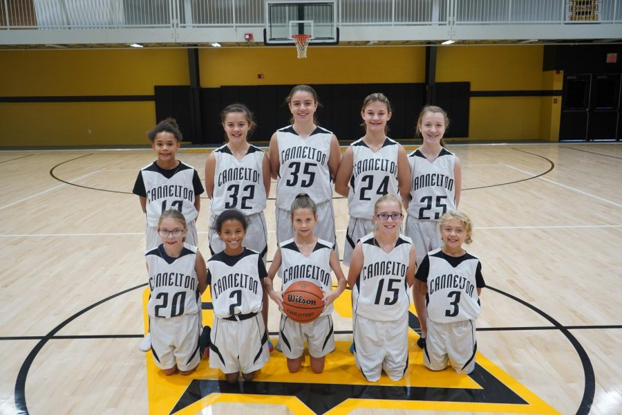 Cannelton Lady Bulldogs 8th Grade Basketball Team 2019-2020.