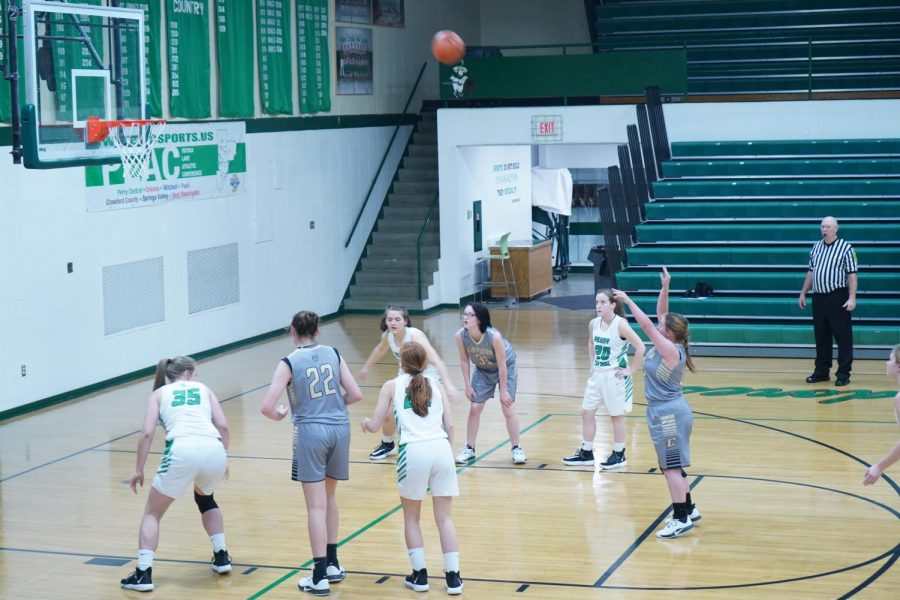 Charlotte going up for a free-throw.