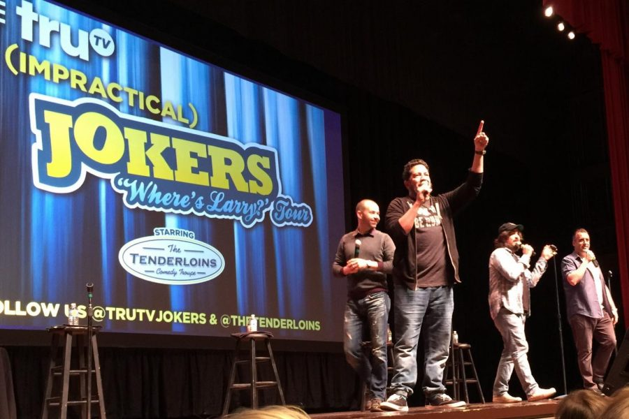 The Tenderloins, stars of the hit TV show Impractical Jokers, on tour in Evansville. November 19, 2015.