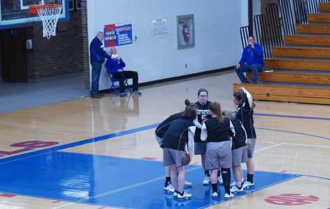 The team huddles before the start of the game. November 12, 2019.