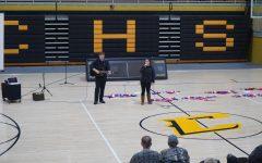 Seniors Isaac Corley and Megan Powers perform