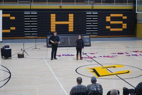 "Seniors Isaac Corley and Megan Powers perform ""Travellin"