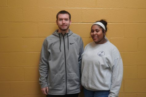 Senior Homecoming King Candidate Rafe Garrett and Senior Homecoming Queen Candidate Desha Little.