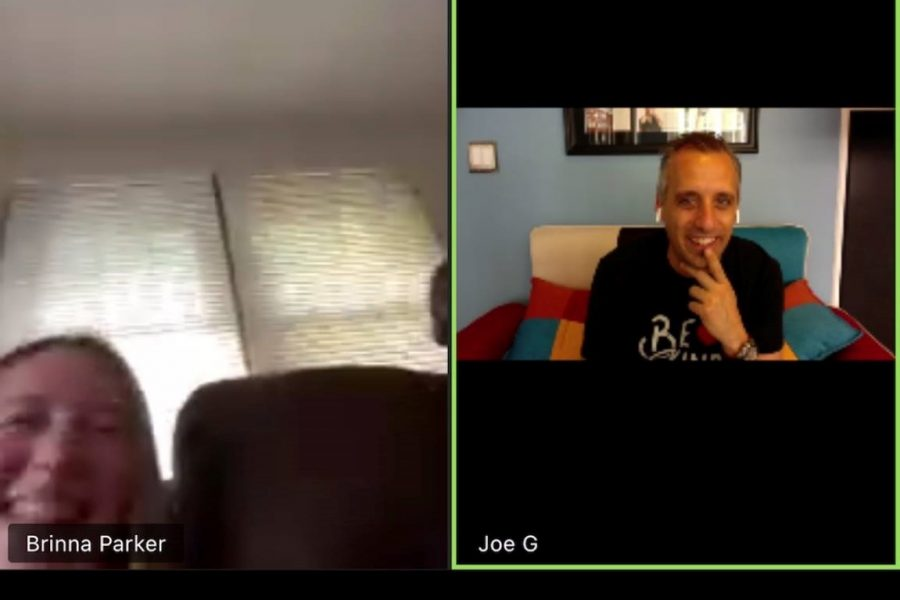 Impractical Jokers star Joe Gatto surprised one of Mrs. Herzog's classes by popping into their Zoom chat! April 20, 2020.