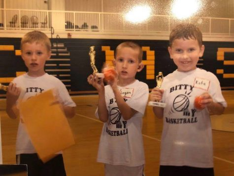 A throwback of three of our seniors when they were little bitty ballers!