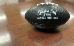 A photo of a rare Cannelton football.