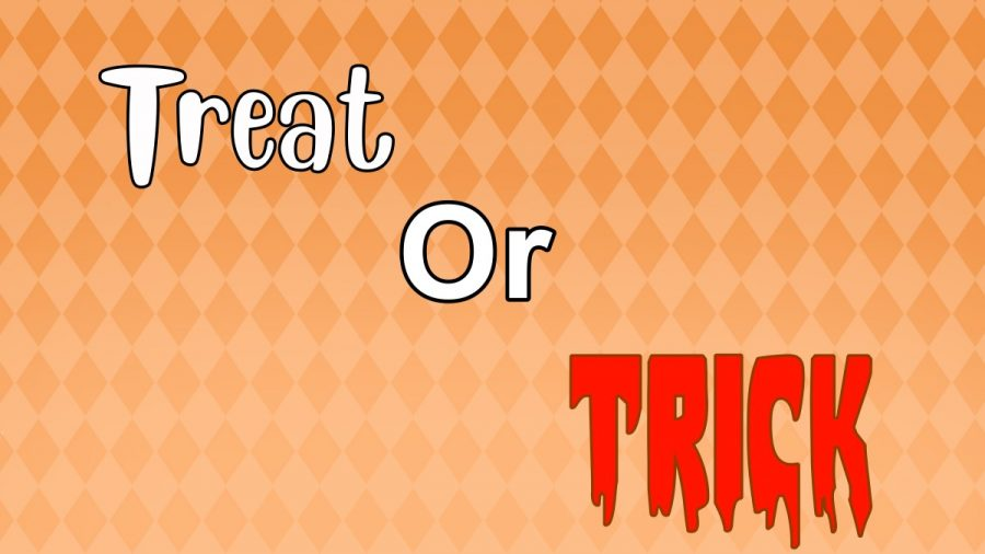 Treat-or-Trick! Original graphic design artwork by Jay Henson.