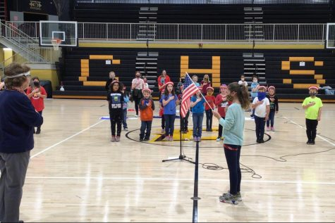 Myers Elementary School hosts their annual music program in honor of our Veterans, led by Mrs. Adams.