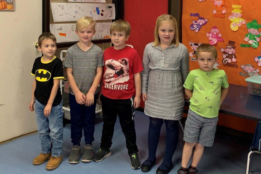 Mrs. Evans's kindergarten class 2020-2021.