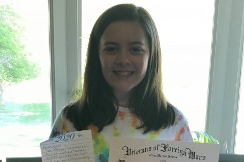 Seventh grade student Kylie won first place in the annual VFW essay contest!
