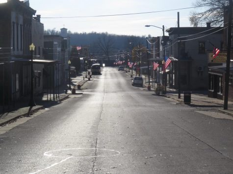 A street that reaches back to 1837, the beginning of Cannelton. Now all that is left are memories and shadows of the past.