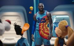 LeBron James starring in Space Jam: A New Legacy. The movie has been met with mixed reviews.