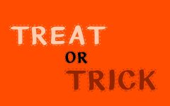 Treat or trick! Original graphic by Jayce Henson.